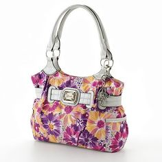 I absolutely LOVE this purse....I am buying it!  Rosetti Capri Belted Floral Shopper