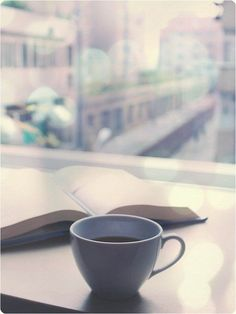 Hot drinks have a calming effect on a person, and if you're a reader a good book is a fantastic way to wind down. So naturally hot coffee + good book = perfect de-stresser.