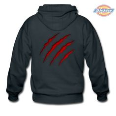 Monster / Dino scratches (illusion) Superhero  Zip Hoodie #cloth #cute #kids# #funny #hipster #nerd #geek #awesome #gift #shop Thanks.