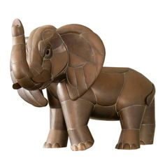 Sergio Bustamante Elephant | From a unique collection of antique and modern sculptures at https://www.1stdibs.com/furniture/decorative-objects/sculptures/