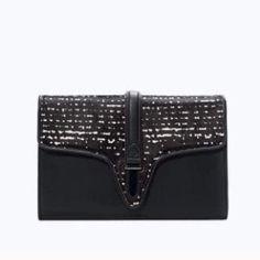 """Zara clutch New with tag. 85% Polyurethane 15% Cow Fur Skin 100% Polyester 8"""" X 12"""" X 2"""" Zara Bags"""