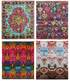 Rugsville Sari Silk Rug Collection! Hand-Knotted made from Sari Silk fabric, this latest collection offers colorful floral designs that are sure to make a statement.