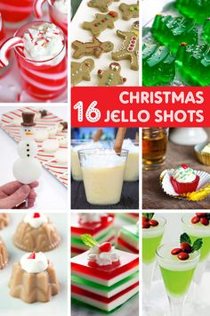 A roundup of 16 Christmas Jello shots -- Christmas party food! Christmas Jello Shots, Christmas Drinks Alcohol, Christmas Party Food, Christmas Cocktails, Christmas Pudding, Christmas Christmas, Christmas Cupcakes, Holiday Drinks, Xmas Party