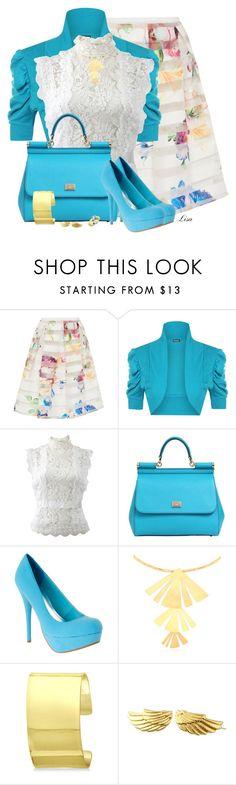 """Ted Baker Skirt"" by lmm2nd ❤ liked on Polyvore featuring Ted Baker, WearAll, Oscar de la Renta, Dolce&Gabbana, Hervé Van Der Straeten, Allurez, Diamondere and plus size clothing"