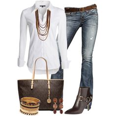 """""""Classic - MK Tote"""" by kerimcd on Polyvore"""