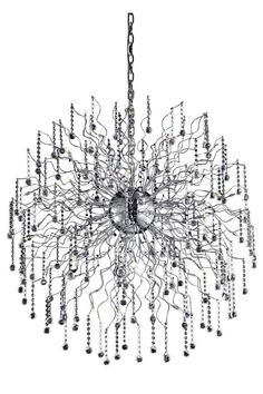 Astro 44 Light Crystal (Clear) Chandelier in Chrome Finish 2075G43C/RC