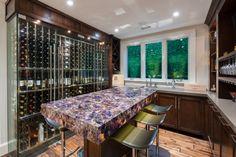 Glass wine storage 4exposure Bar with Wine Cellar
