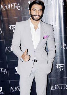 Ranveer Singh at 'Lootera' screening #Bollywood #Fashion