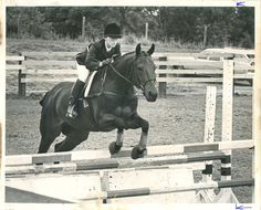 Lachlan and Pit Bar Lucky at the Two Bit Ranch Hunter Jumper show in 1976.