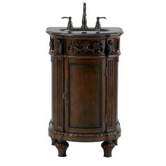 Home Decorators Collection Chelsea 22 in. Vanity in Antique Cherry with Granite…