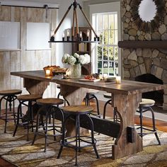 """Obtain excellent tips on """"outdoor kitchen appliances counter tops"""". They are… Obtain excellent tips on """"outdoor kitchen appliances counter tops"""". They are actually readily available for you on our website. Rustic Industrial Decor, Industrial House, Industrial Stool, Rustic Chic, Industrial Furniture, Rustic Style, Outdoor Kitchen Bars, Round Stool, Kitchen Island Lighting"""