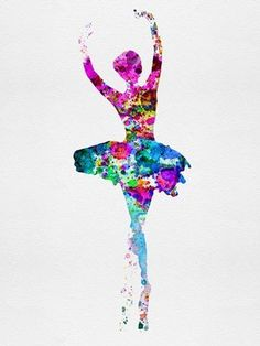 Dance Art Modern Pop Ballet Performing Arts Ballerina Watercolor 1 Poster Print by Irina March Online On Sale at Wall Art Store – Posters-Print.com