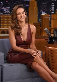 Jessica Alba visits 'The Tonight Show Starring Jimmy Fallon' at Rockefeller Center.