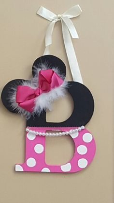 Minnie Mouse Letter