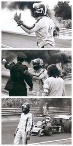 David Purley trying to save Roger Williamson in 1973.  One of the worst but most human moments in sporting history. This will bring you to tears! #hero