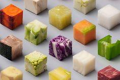 Wauw: dit Nederlandse duo sneed 98 perfecte vierkantjes van eten - Culy.nl