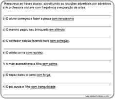 Atividades de advérbio prontas para imprimirSala de Atividades
