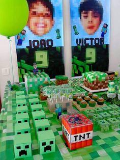 Cumpleaños Minecraft   JER Eventos