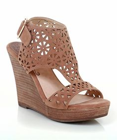 Look what I found on #zulily! Restricted Taupe Cutout Miss Wedge Sandal by Restricted #zulilyfinds