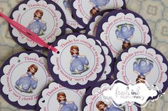 Sofia the First Personalized Tags by FreshInkStationery on Etsy, $9.00