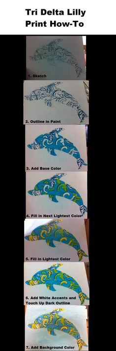 Tri Delta Lilly Print How-To .. it looks easy enough ? maybe i will try it some day haha