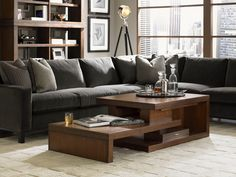This modern coffee table is functional and very artistically styled - great for a city loft or contemporary home!