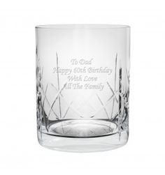 Crystal Whisky Tumbler | Glassware | Exclusively Personal