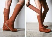 Toms Wrap Boots Brown Vegan Womens