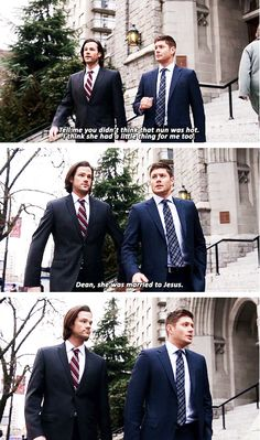 [gifset] 10x16 Paint It Black #SPN #Dean #Sam That line made me laugh so hard XD married to Jesus