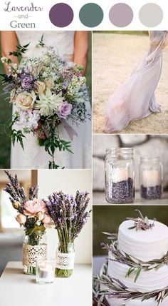 lavender and green chic rustic wedding colors 2016 trends:                                                                                                                                                                                 More