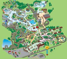 Need help finding your way around? View the Holiday World & Splashin' Safari Park Map for more information on rides, attractions, shows, snacks and events. Holiday World, Travel Destinations, Travel Tips, Google Images, Safari, City Photo, Projects To Try, Places To Visit, Map