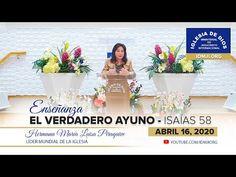 Enseñanza: El verdadero ayuno, Hna. María Luisa Piraquive - 16 de abril de 2020, IDMJI - YouTube