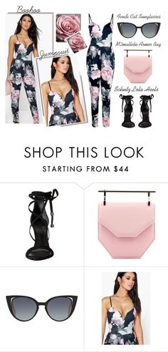 """Spring Essential - A Floral Jumpsuit"" by latoyacl ❤ liked on Polyvore featuring Schutz, M2Malletier and Fendi"