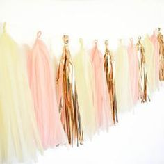 Pink and Rose Gold Tassel Garland Kit
