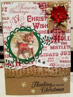 Vintage Christmas card by Scripperscrapper