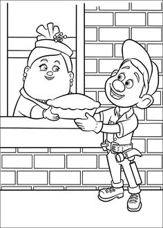 Free Downloads WRECKIT RALPH Coloring Sheets Best Kids