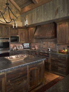 Rustic Kitchen.