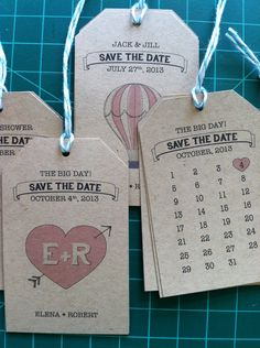 Save The Dates! Graphics by Robert Giusti ... - Elena + Rob