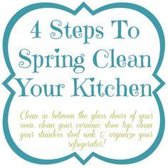 4 Steps To Spring Clean Your Kitchen at www.mom4real.com @Jess Liu Kielman         {Mom 4 Real}