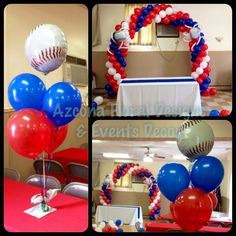 Baseball Theme Balloons Decor