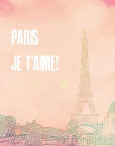 Love Print Paris Print Travel Vintage by twiggsdesigns on Etsy, $25.00
