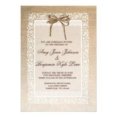 ShoppingRustic Country Burlap Lace Wedding Invitationonline after you search a lot for where to buy