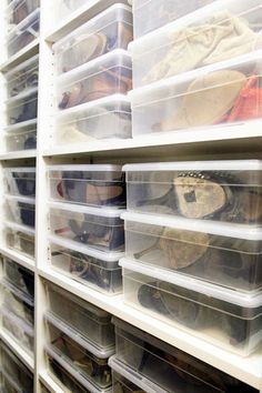 Shoe boxes // closet organizing ideas // shoe collection // organized collection