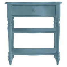 A perfect addition to your master suite or guest room, this lovely nightstand showcases a wave hue and 2 lower display shelves for ample storage.