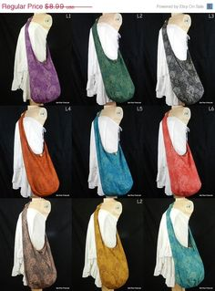ON SALE Cotton Hippie Hobo Sling Crossbody Bag Messenger Purse Paisley XL You Pick Color door BenThaiProducts op Etsy https://www.etsy.com/nl/listing/116696652/on-sale-cotton-hippie-hobo-sling