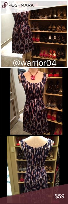 """""""HP 6/4/16"""" Ann Taylor Dress with Tie Sash Front Ann Taylor Dress with Tie Sash Front fill lined dress sophisticated & stylish size 0 35"""" in length Ann Taylor Dresses"""