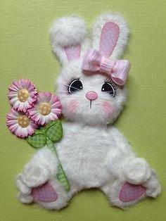Spring Easter Bunny Girl Tear Bear Scrapbook Paper Piecing ELITE4U 3PAPERWISHES | eBay