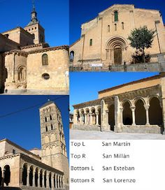 some churches in Segovia