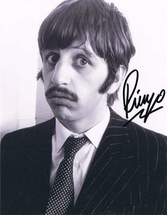 Ringo Starr's autographed photo