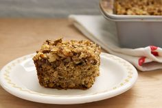 Banana Oatmeal Crumb Cake is a tasty cake that's a little bit banana bread and a little bit coffee cake. Serve this one from breakfast to dessert.